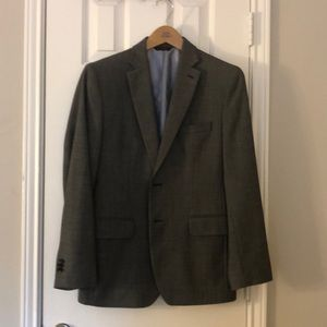 Banana Republic grey tailored fit blazer